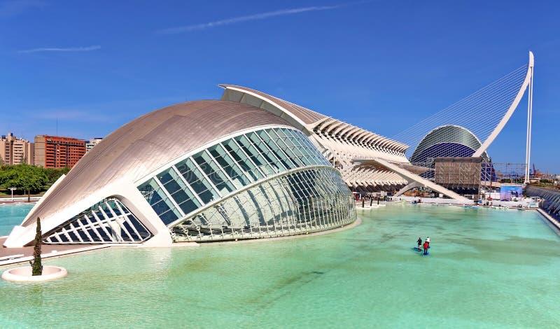 Valencia, Spain. City of Arts and Sciences in Valencia, Spain stock photos
