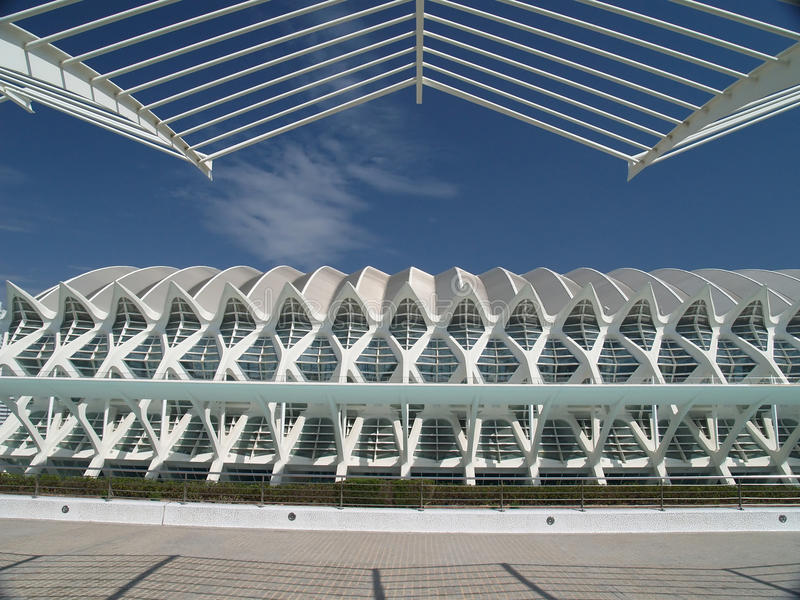 The City of Arts and Sciences, Valencia Spain stock photography