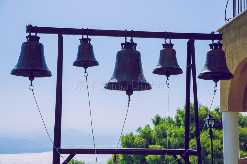 City Athens, Greece Republic. Bells in church. Travel photo. 14. Sep. 2019 royalty free stock image
