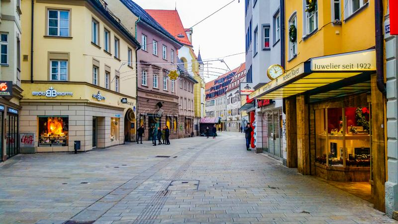 City of Augsburg. Street scene in city of Augsburg, Germany royalty free stock photos