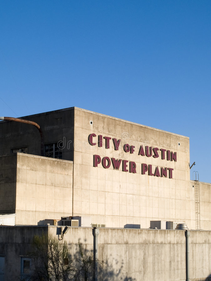 City of Austin Power Plant stock photos