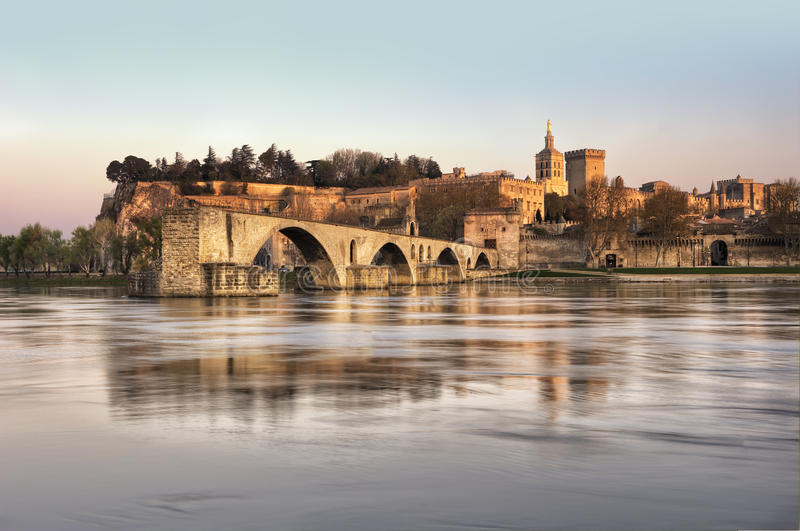 Download The City Of Avignon At Sunset Stock Image - Image: 24523859