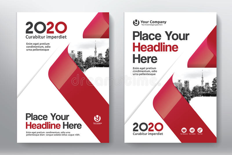 City Background Business Book Cover Design Template in A4 stock photography