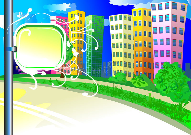 Download City Background With Tablet Stock Vector - Image: 2992960