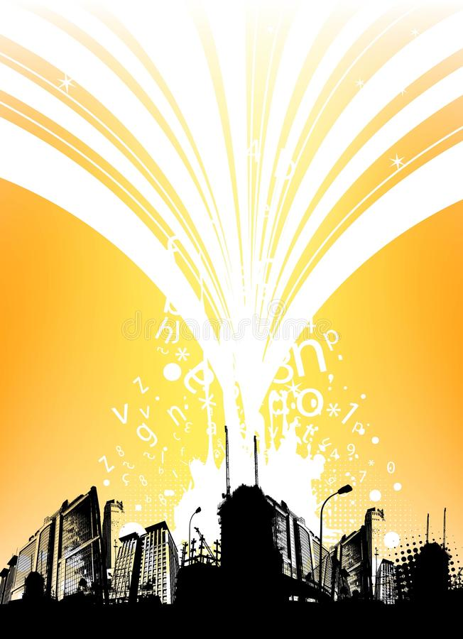 City background vector vector illustration