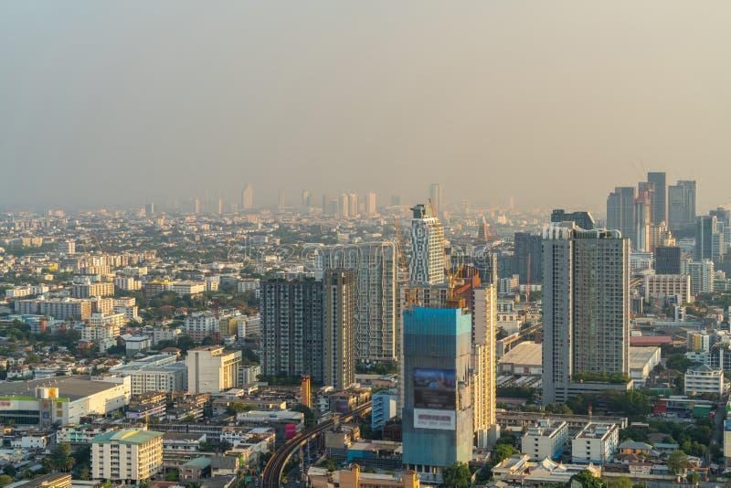 City of Bangkok with air pollution royalty free stock image
