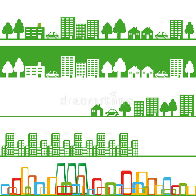 Download City banners stock vector. Illustration of environment - 21352645