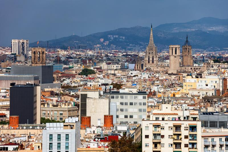 City Of Barcelona Cityscape stock photo