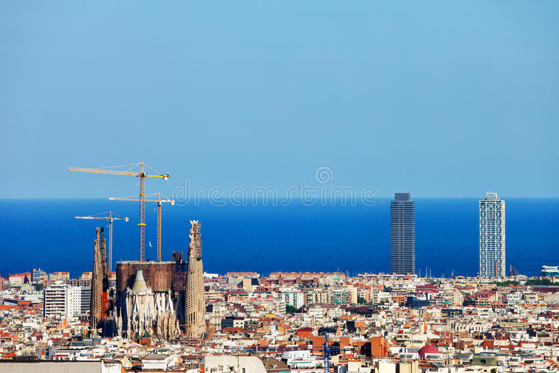 City of Barcelona Cityscape royalty free stock photography