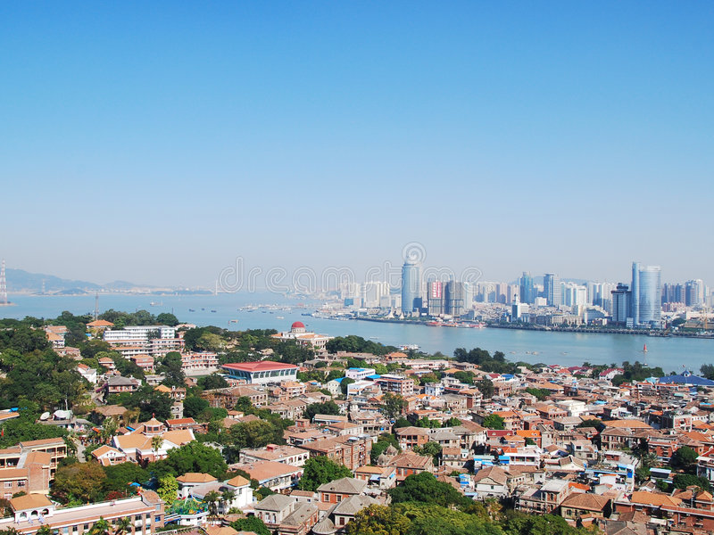 Download City bay stock image. Image of cityscape, angle, above - 4397603