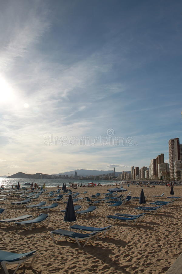 City beach in Benidorm royalty free stock images
