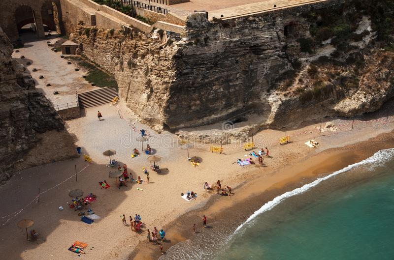 City beach in Melilla. stock photo