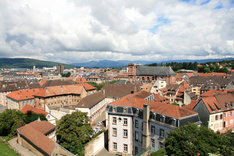 The city of Belfort. View of the heart of the city of Belfort royalty free stock images