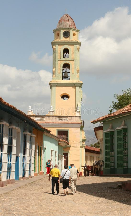 City bell tower stock photography
