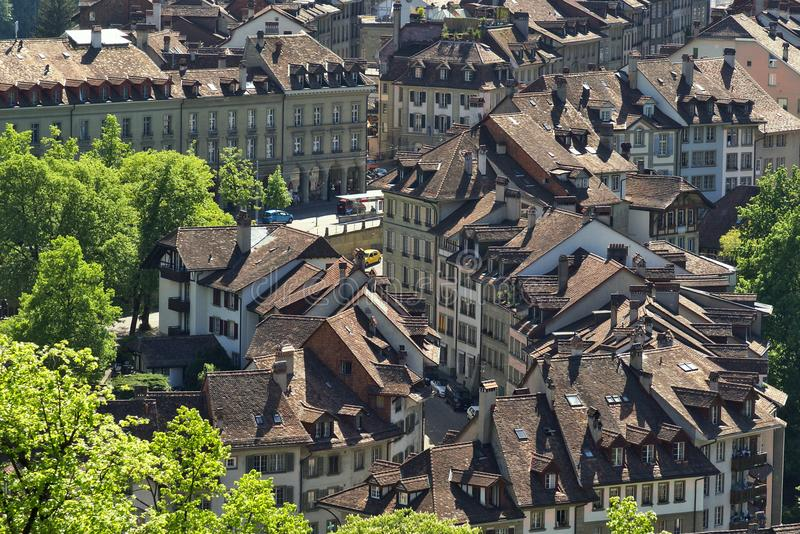 City of Bern cityscape. royalty free stock images