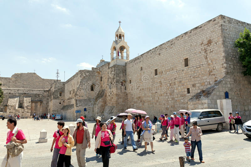 The city of Bethlehem. The Church of the Nativity royalty free stock images