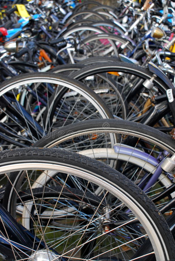 Download City Bicycle Parking In Holland Stock Image - Image: 16169955