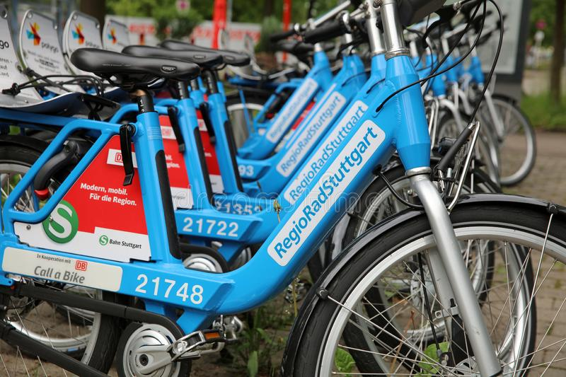 City Bike rental Station in Stuttgart. Germany royalty free stock images