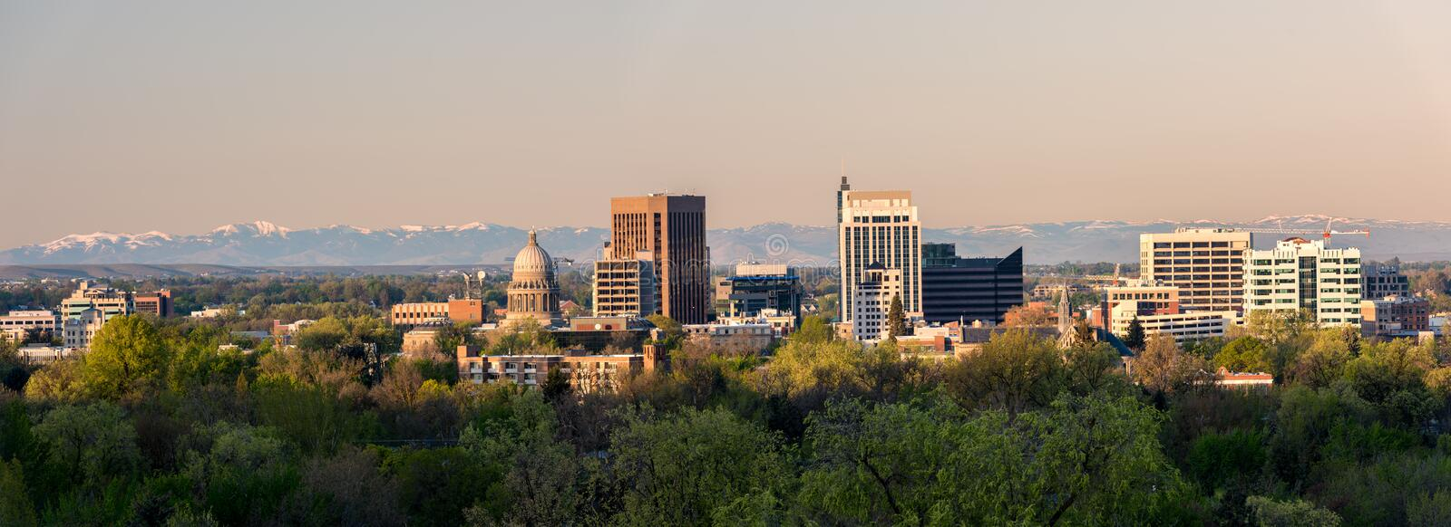 City of Boise Idaho in morning light stock image
