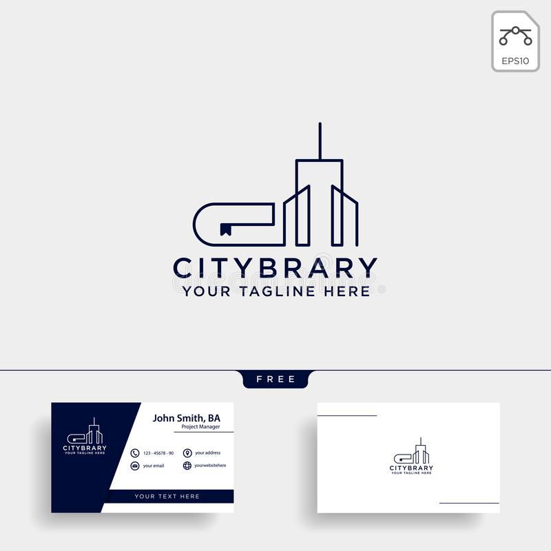 City book, or home book line art logo template vector illustration icon element isolated. Vector file stock image