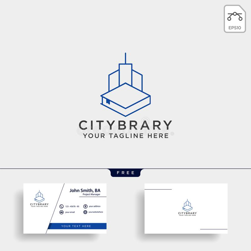City book, or home book line art logo template vector illustration icon element isolated. Vector file stock images