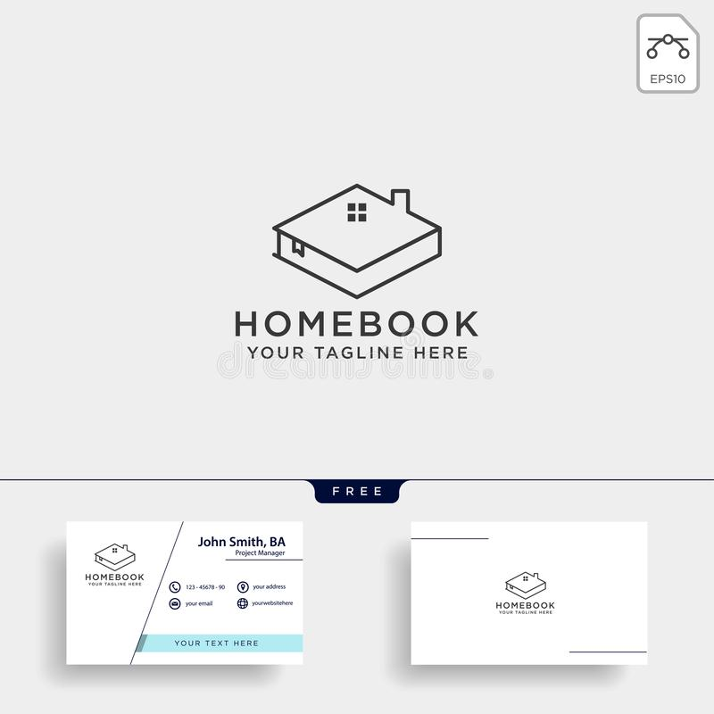City book, or home book line art logo template vector illustration icon element isolated. Vector file royalty free stock photo