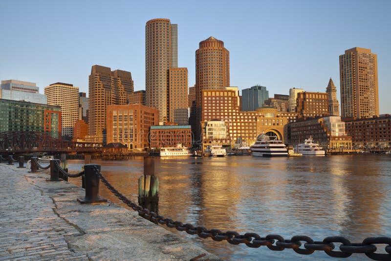 City of Boston. Image of Boston city skyline at sunrise