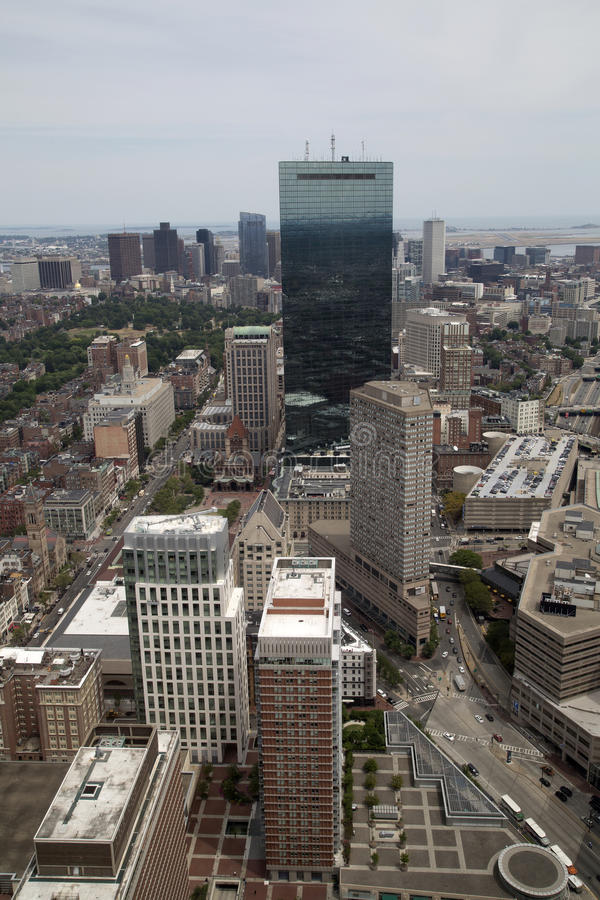 City Boston has seen from Observation Deck stock photography