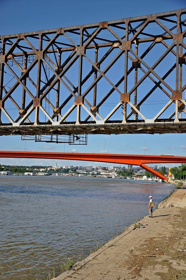 City bridges royalty free stock photo