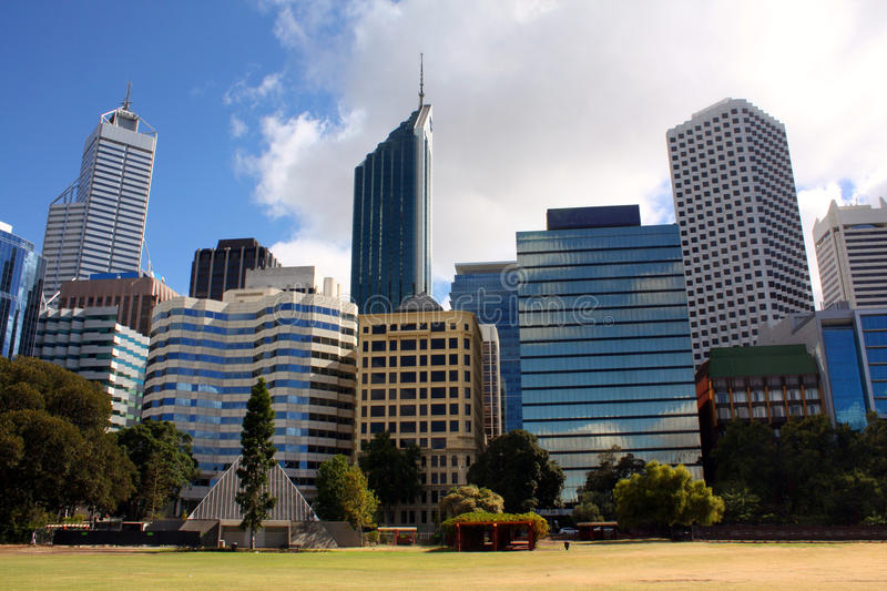 City Buildiigs Perth royalty free stock images