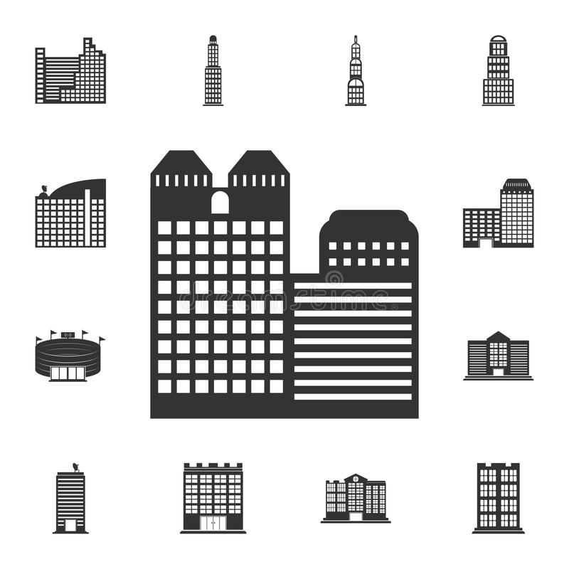 City building icon. Simple element illustration. City building symbol design from Buildings collection set. Can be used for web a stock illustration