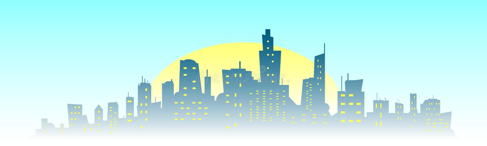 City building silhouette. royalty free illustration