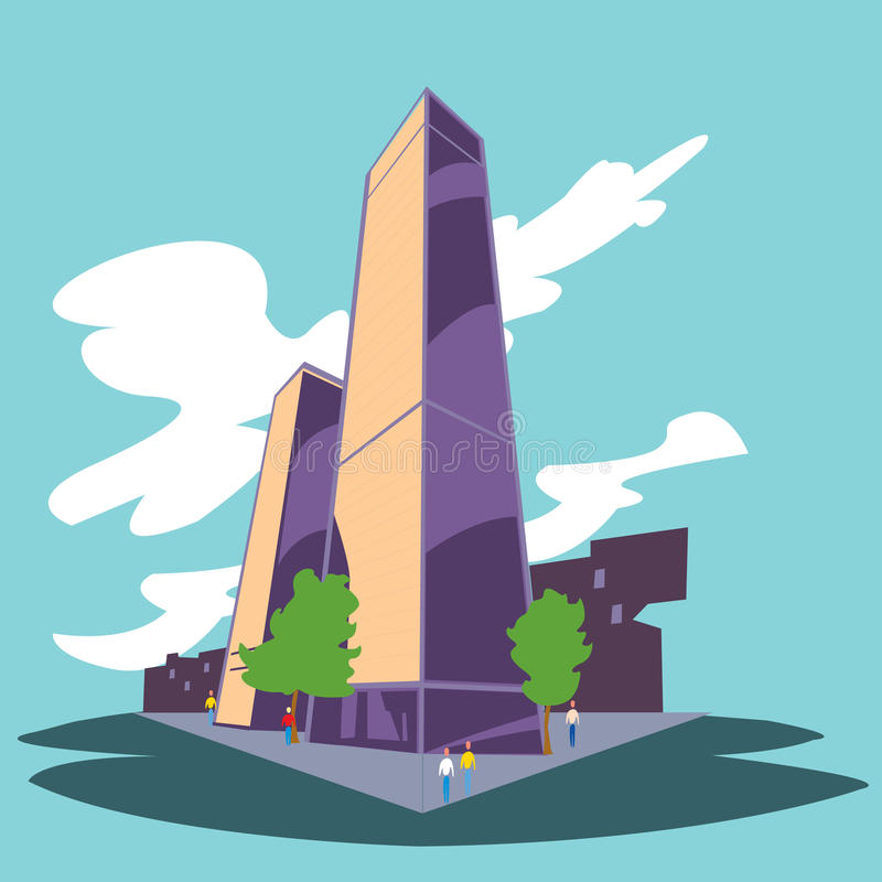 Download City Buildings stock illustration. Image of colours, theme - 10645022
