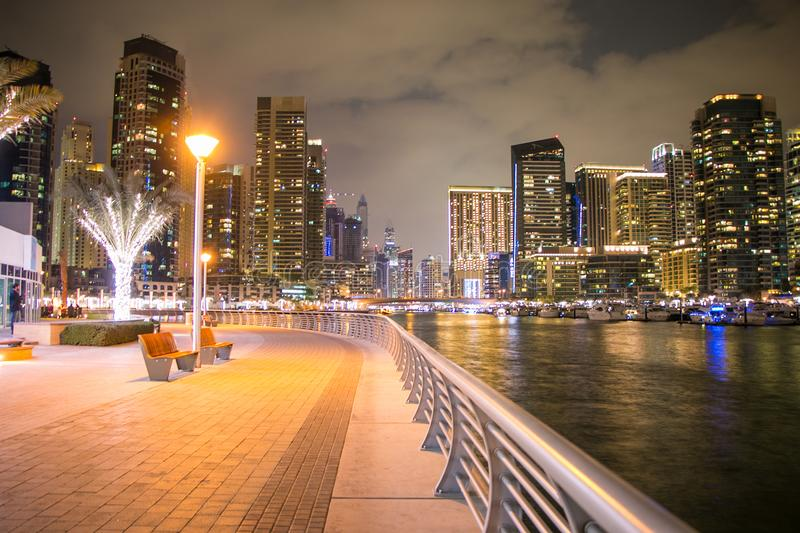 City Buildings With Lights stock images
