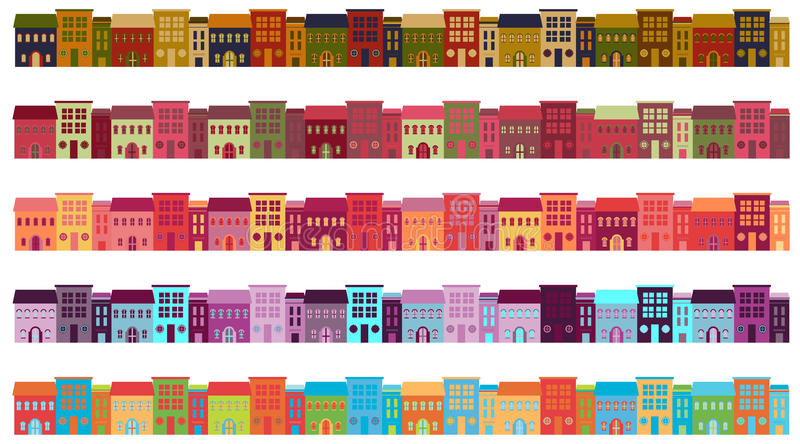 Download City Buildings stock vector. Image of green, estate, home - 30544684