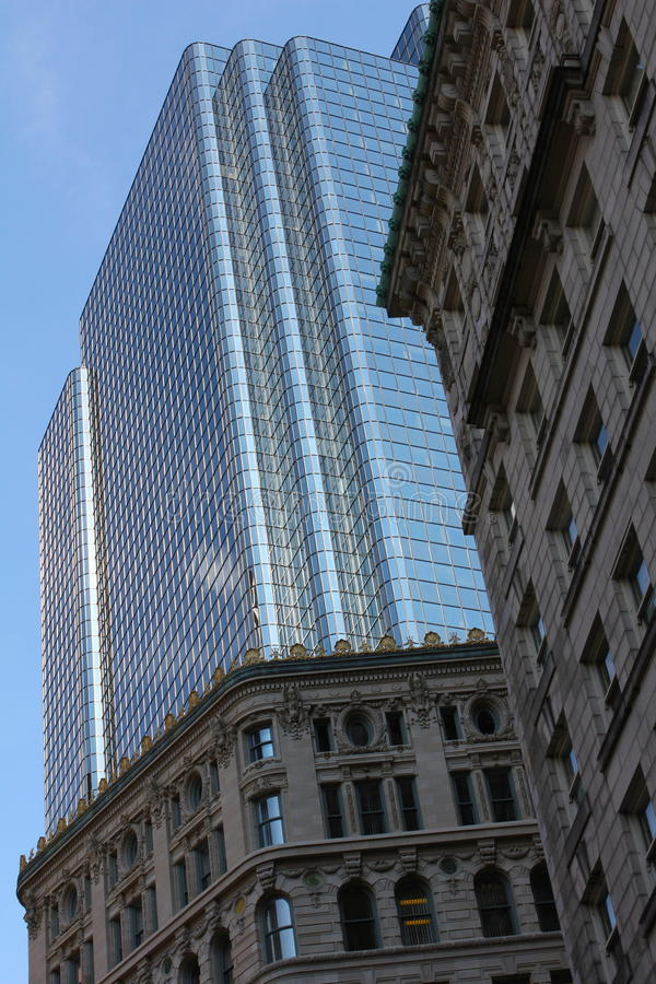 City Buildings. Showing a contrast of architecture royalty free stock photos