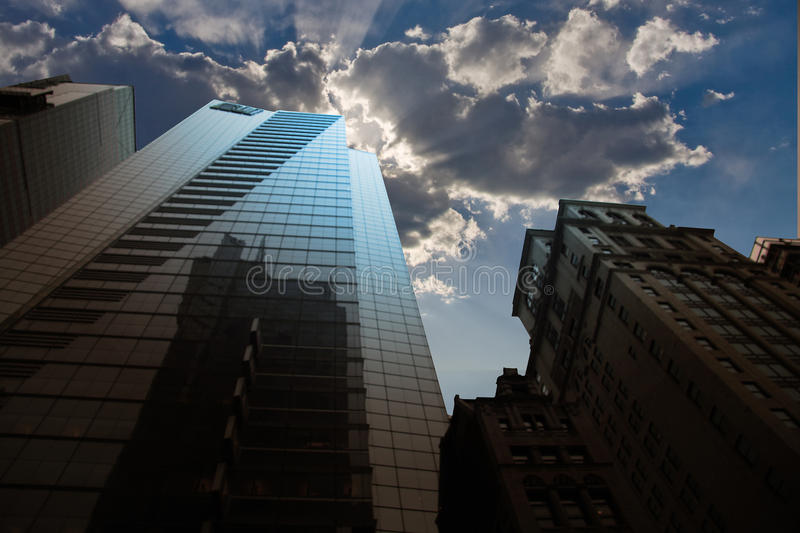 CIty buildings and sky royalty free stock image