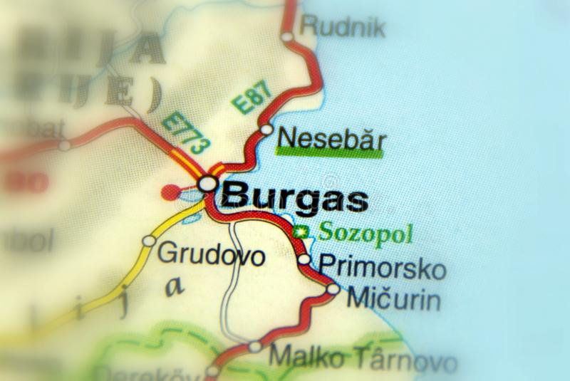 Burgas, Bulgaria - Europe EU. City of Burgas, Bulgaria - Europe EU royalty free stock image