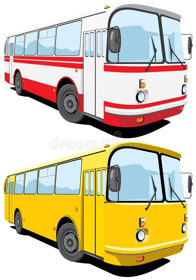 Download City bus stock vector. Image of single, tour, white, coach - 20765298