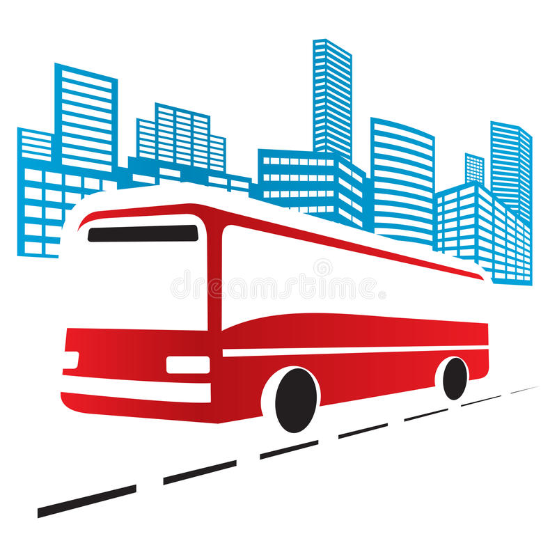 Download City bus stock vector. Image of symbol, journey, cityscape - 26163881