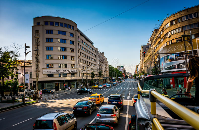 Download City Bus Bucharest editorial photography. Image of sightseeing - 41875442