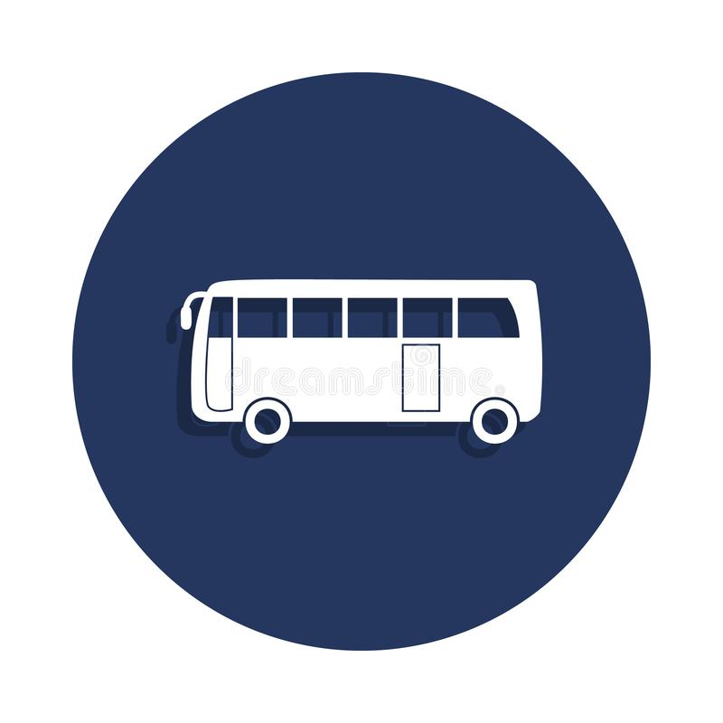 city bus icon in badge style. One of cars collection icon can be used for UI, UX royalty free illustration