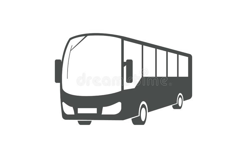 City bus, public transport symbol. City bus, public transport symbol isolated on white background stock illustration