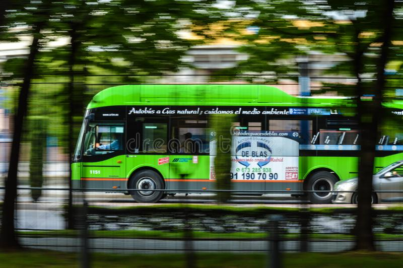 City bus on street stock photography