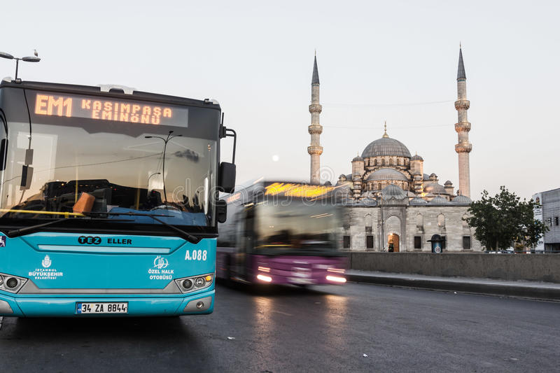 CITY BUSES IN ISTANBUL royalty free stock photos