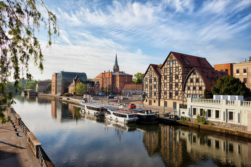 Download City Of Bydgoszcz In Poland Stock Image - Image of granaries, waterfront: 55361777