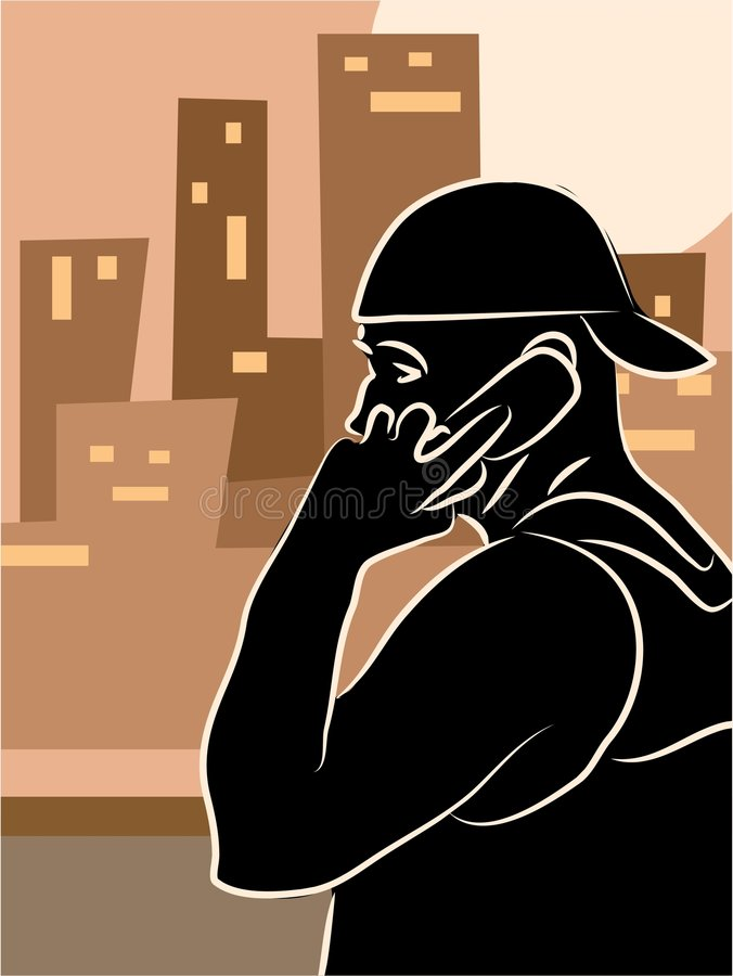 City Call royalty free illustration