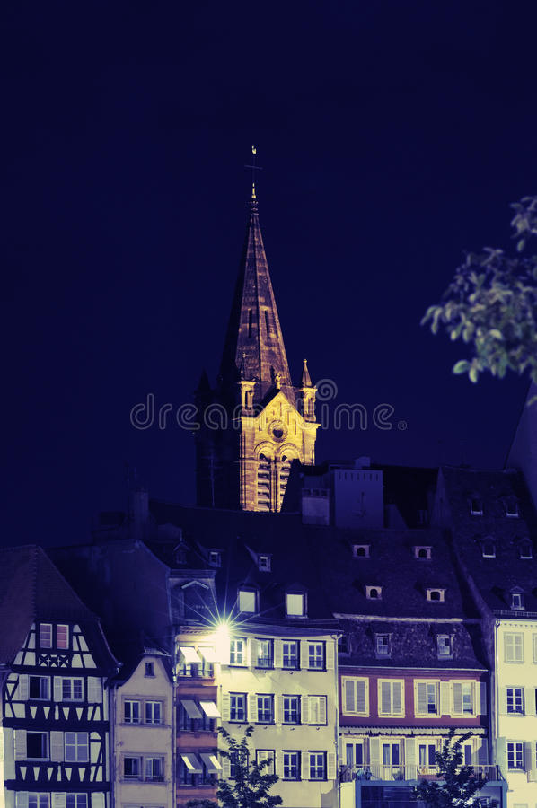 Download City calm night stock image. Image of guebwiller, flower - 16930599