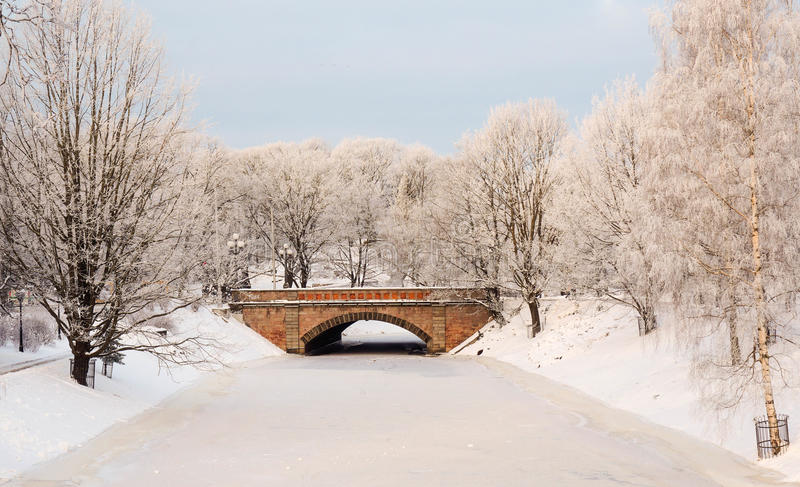 Download City Canal In The Frosty Morning Stock Photo - Image of cityscape, freeze: 83707776