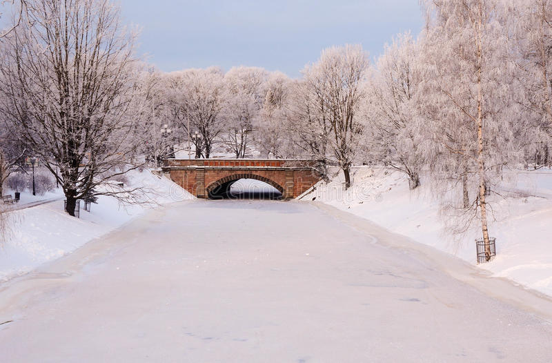 Download City Canal In The Frosty Morning Stock Image - Image of view, landmark: 83709283